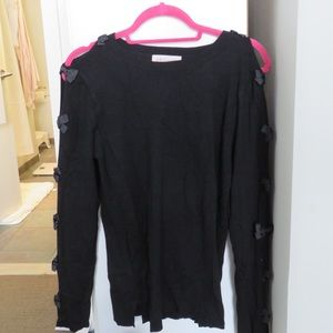 Philosophy Open Sleeve Bows Sweater - CUTE!